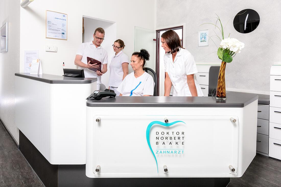 Zahnarzt Siegen - Dr. Norbert Baake - Praxis - Empfang